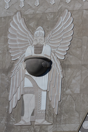 pineal: Hollywood, California - February 08 : Close up of the details in architecture in Hollywood and Highland Center, February 08 2015 in Hollywood, California.