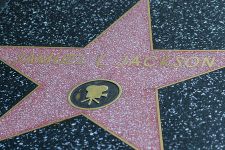 famous industries: Hollywood, California - February 08 : Samuel L Jacksons star in the Hollywood walk of fame, February 08 2015 in Hollywood, California. Editorial