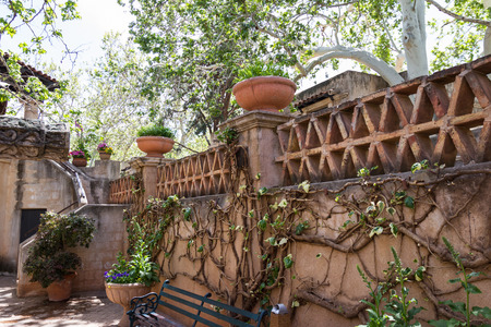 to incorporate: beautiful elegant delight on an indoor patio with green spring plants incorporated into the construction
