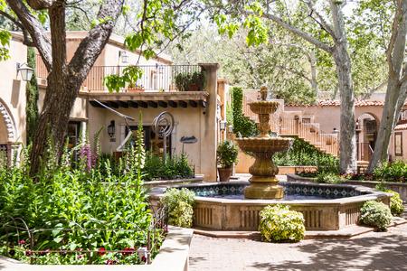 arts and crafts: Sedona, Arizona - April 12 : Outdoor architecture at the Tlaquepaque Arts & Crafts Village , April 12 2015 in Sedona, Arizona.