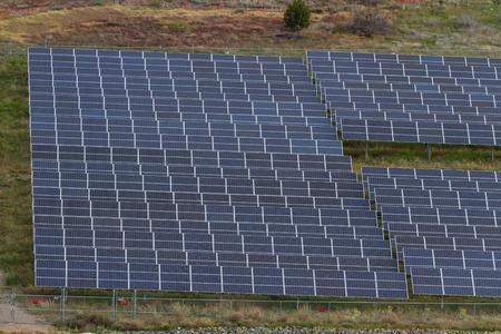 absorption: vast amount of solar panels in the desert of Arizona Stock Photo