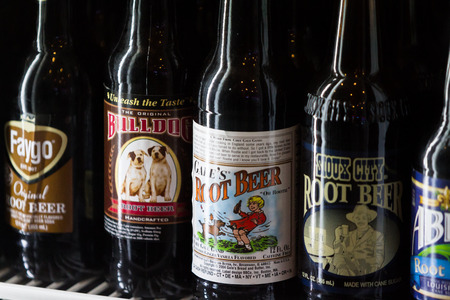 soda pop: San Luis Obispo, California - collection of old soda pop in a variety of classic flavors, May 03 2015 San Luis Obispo, California.