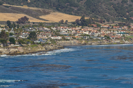 luis: San Luis Obispo, California - May 03 : Beautiful houses lining the front of the beach, May 03 2015 San Luis Obispo, California.
