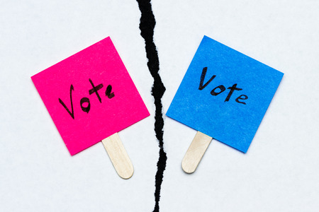concept for election day, the vote separation between republicans and democrats