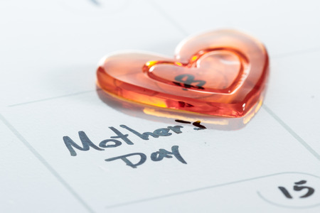 dry erase: concept image for mothers day using a dry erase calendar and a marker Stock Photo
