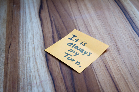 self help: concept for self help using empowering words on a sticky note