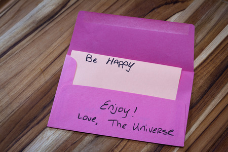 esteem: concept for a self esteem building exercise using an envelope and a empowering message