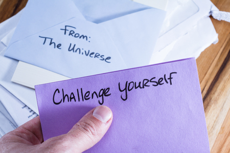 acceptable: concept for a self esteem building exercise using an envelope and a empowering message