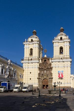 Lima - May 10 : Church of San Francisco in Lima. May 10 2016 Lima Peru.