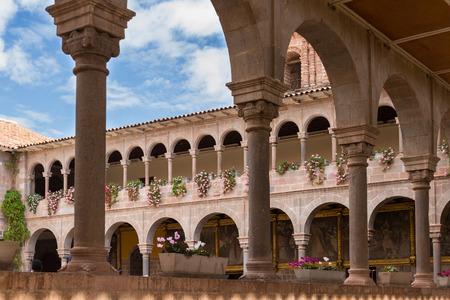 cusco: Cusco, Peru - May 14 : interior architecture and detail of the Templo de Santo Domingo in Cusco. May 14 2016, Cusco Peru.