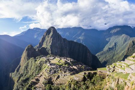 Machu Pichu, Peru - May 16 : The Lost City of the Incas or Machu Pichu, beautiful site in Peru. May 16 2016, Machu Pichu Peru.