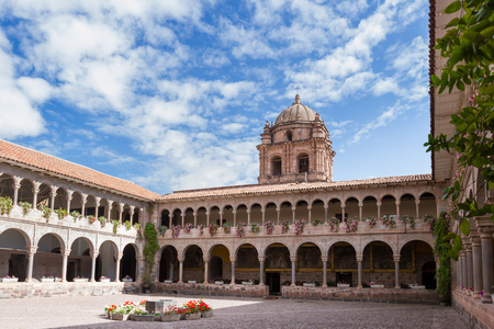 Cusco, Peru - May 14 : interior architecture and detail of the Templo de Santo Domingo in Cusco. May 14 2016, Cusco Peru.