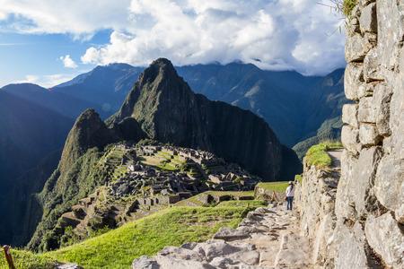 Machu Pichu, Peru: The Lost City of the Incas or Machu Pichu, beautiful site in Peru. Stock Photo - 64329562