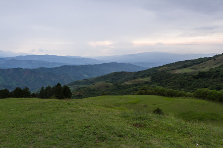 view some of the mountains surrounding the central valley in Costa Rica