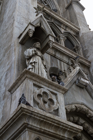 isidro: San Isidro, Costa Rica - May 21 : Beautiful architecture and detail in the Church of Coronado. May 21 2016, San Isidro Costa Rica.