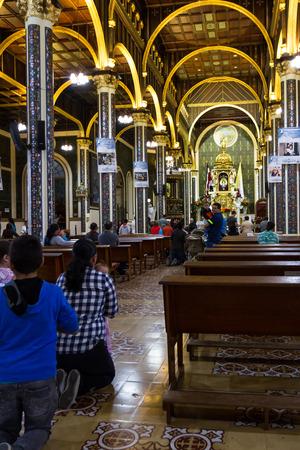 opulence: Cartago, Costa Rica - May 21 : Interior view of the Church of Cartago with visitors. May 21 2016, Cartago Costa Rica.