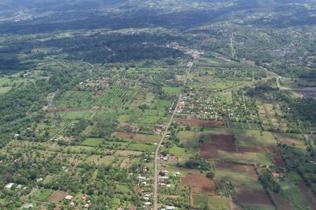 thru: Alajuela, Costa Rica: The landscape of Costa Rica thru the clouds form a local flight, Costa Rica.