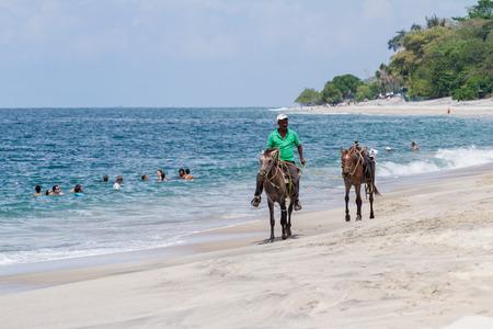 tour guide: Santa Clara, Panama- June 12: local tour guide offering beach horseback tours in Panama. June 12 2016, Santa Clara, Panama.