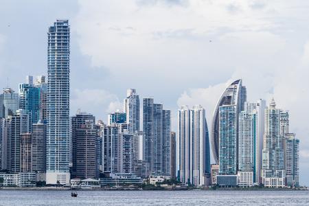 cinta: Panama City, Panama: Cityscape from across the bay in Panama.