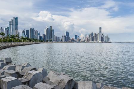 Panama City, Panama- June 08: View of the City and buildings form the Urraca park. June 08 2016, Panama City, Panama. Editorial