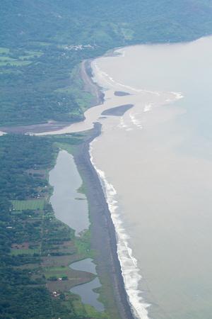 bird 's eye view: coastline of the Province of Puntarenas in Costa Rica