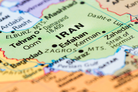 Close up of a world map with tehran iran in focus stock photo 90531210 close up of a world map with iran in focus gumiabroncs Image collections