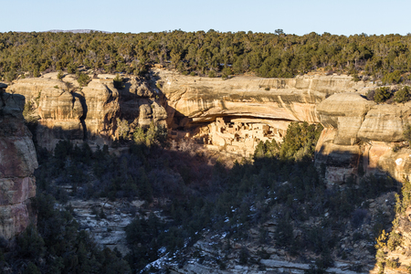 Beautiful well amazingly preserved cliff dwellings in Mesa Verde National Park