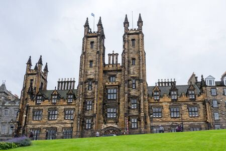 Edinburgh Scotland  - September 13 2019: New College in the University of Edinburg largest and most renowned center for Theology and Religious studies in the UK, Edinburgh UK September 13,  2019