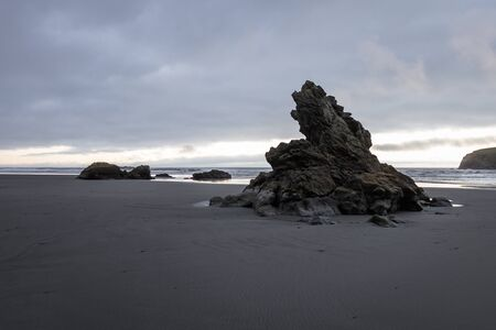 Moody landscape in the southern Oregon coast with a bit of fog rolling across the horizon