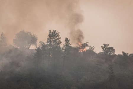 Wild fires near highway 62 in Eagle Point Oregon, September 9 2020 Stok Fotoğraf - 154941892