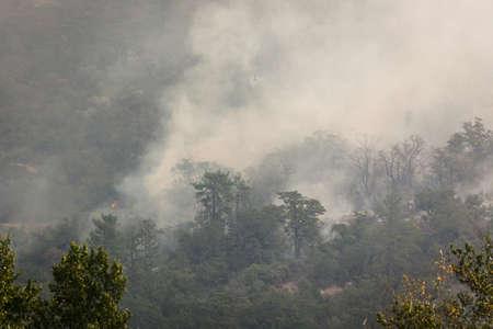 Wild fires near highway 62 in Eagle Point Oregon, September 9 2020 Stok Fotoğraf - 156069026