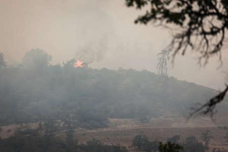 Wild fires near highway 62 in Eagle Point Oregon, September 9 2020 Stok Fotoğraf - 154941626