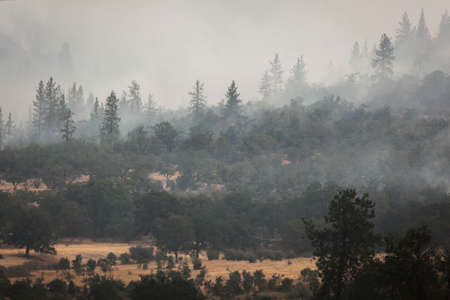 Wild fires near highway 62 in Eagle Point Oregon, September 9 2020 Stok Fotoğraf - 154942539