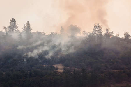 Wild fires near highway 62 in Eagle Point Oregon, September 9 2020 Stok Fotoğraf - 154941612