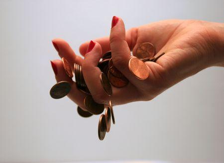 fritter: money slipping through fingers