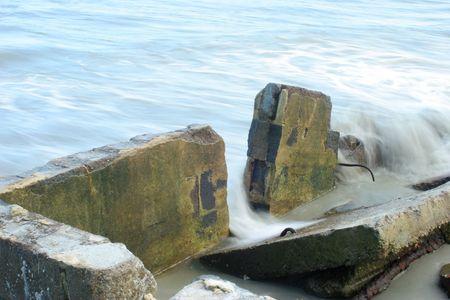 erosion: Erosion by waves Stock Photo