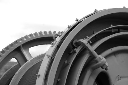 room for text: Old mining equipment with room for text