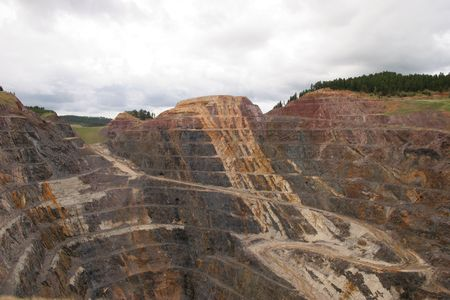 open pit: Open pit mine Stock Photo