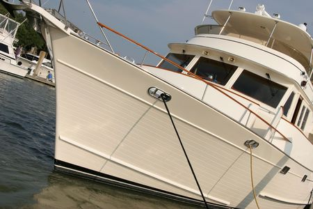 angled view: angled view of a yacht