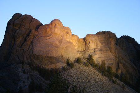 'mt rushmore': Mt Rushmore at Dusk Editorial