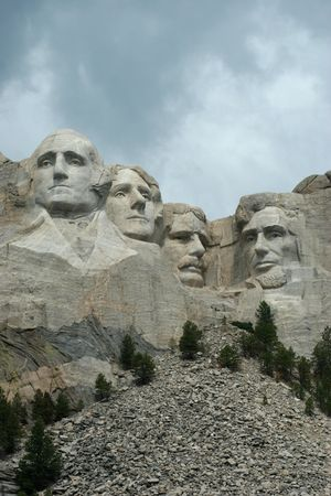 mt: Mt Rushmore under stormy skies Editorial