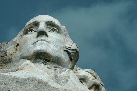 George Washington under stormy skies