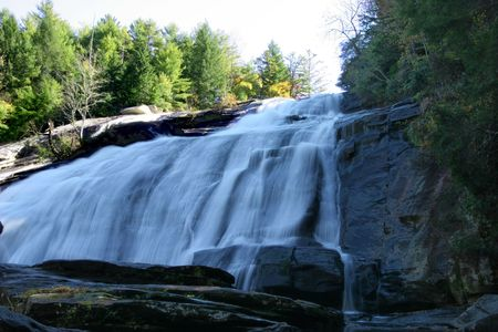 watershed: Massive waterfall in North Carolina Stock Photo