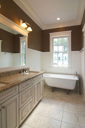 elegant modern bathroom with clawfoot tub Stock Photo - 2159187