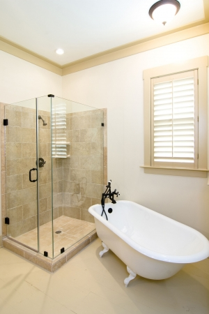 elegant bathroom in rustic style Stock Photo