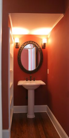 powder room: sencillo, elegante sala de polvo