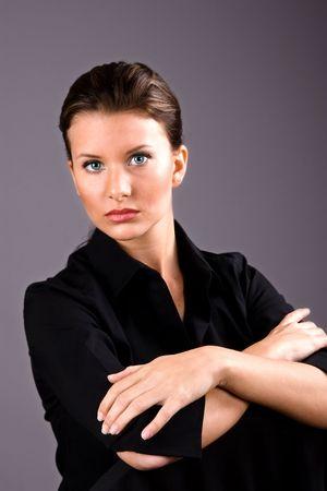 beautiful brunette business woman Stock Photo - 2157888