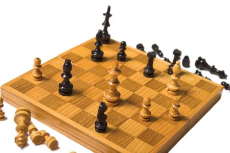 chess board with pieces in checkmate position