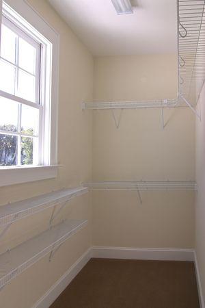 empty walk-in closet with window