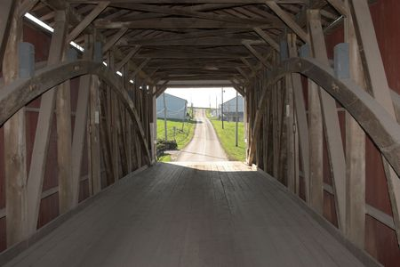 Covered bridge, Lancaster county Pennsylvania  photo